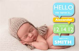 Boy birth announcement template with word bubbles free for Baby birth announcements templates for free
