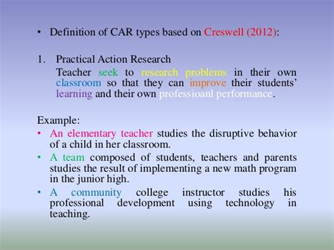 Classroom Action Research (car