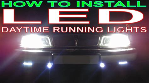 how to install led daytime running lights in car led drls the easy way