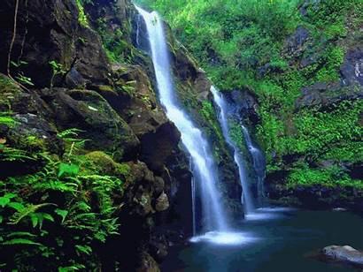 Hawaii Waterfalls Very Island Hawaiian Waterfall Scenery
