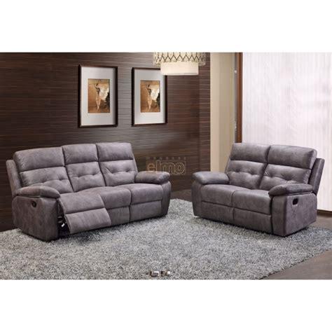 canape haut de gamme tissus canapé 3 places relax milord tissu gris haut de gamme