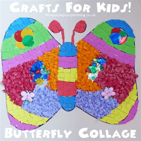 simple collages for 629 | Crafts For Kids Butterfly Collage
