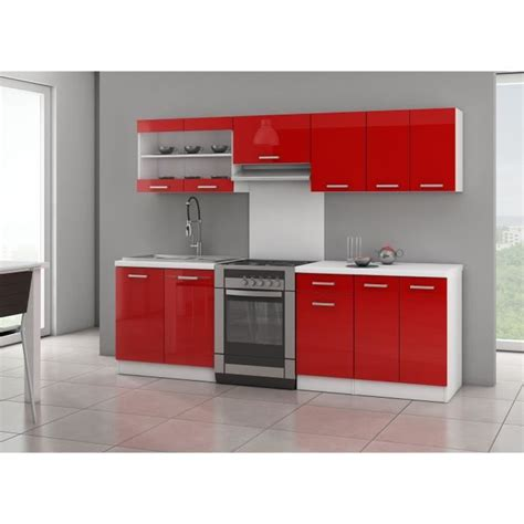 meuble de cuisine aubergine jasny cuisine complète 2m40 laqué achat vente cuisine complète jasny cuisine