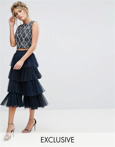 Lace Tiered Tulle Culottes lace and lace tiered tulle culottes