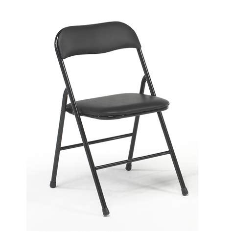 silla plegables metalicas negras
