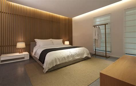 Loft Bedroom Feature Wall by Bedroom Wall Design Idea Create A Wood Slat Accent Wall