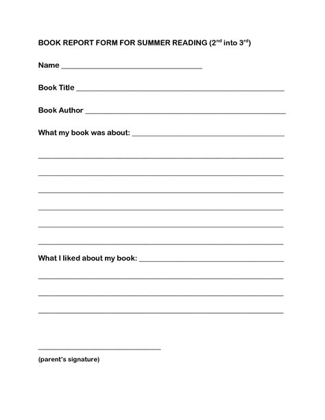 book report template 4th grade 14 best images of science fiction book report worksheets middle school book report template