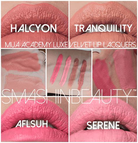mua academy luxe velvet lip lacquers  tranquility