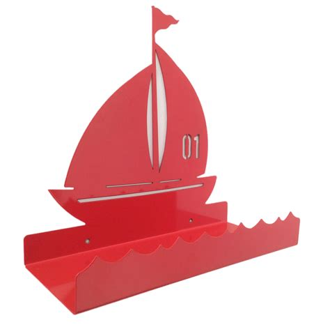 Childrens Boat Shelf by Sailing Boat Metal Wall Shelf For Children In