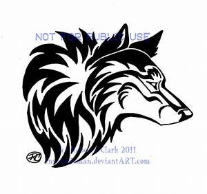 Tribal Wolf Head by InsaneRoman on DeviantArt