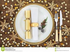 Christmas Dinner Place Setting Stock Image - Image: 58670823