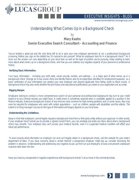 what comes up on background check understanding what comes up in a background check
