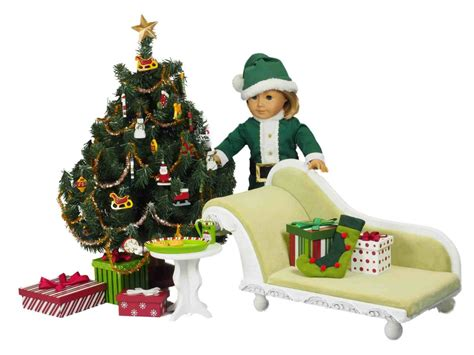 christmas accessory set designed  american girl dolls