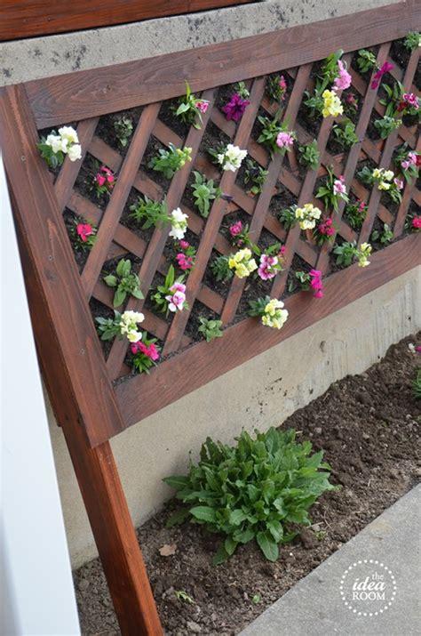 diy vertical flower bed  idea room