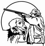 Hunting Coloring Pages Duck Dog Deer Bow Drawing Dogs Sheets Drawings Hunter Trained Gun Shooting Printable Getdrawings Getcolorings Going Clip sketch template