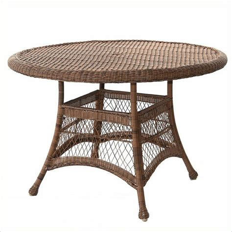 Patio Furniture Table by Outdoor Patio Furniture Wicker 44 Quot Dining Table In