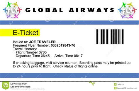 Airline e-Ticket stock illustration. Illustration of ...