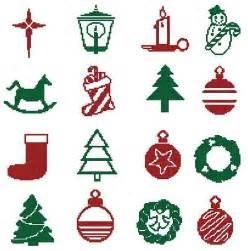 christmas motifs 5 cross stitch pattern motifs