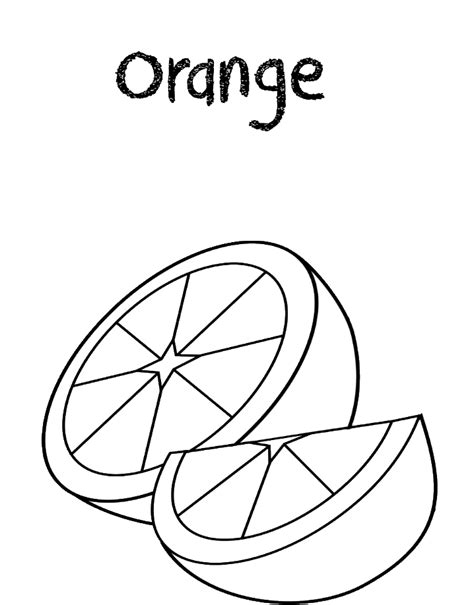 Coloring Oranges by Fruits Coloring Pages Free Coloring Pages Printable For