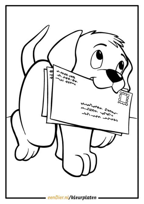 Domme Hond Kleurplaat by Kleurplaten Dieren Honden