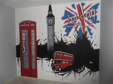 decoration londres chambre decoration murale londres