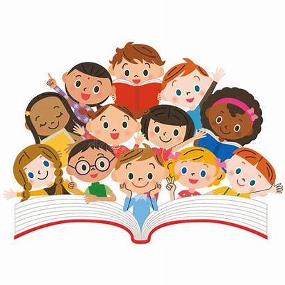 Reading Children Enfants Clipart Qui Lecture Bambini