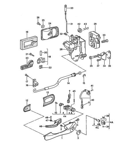 door knob parts porsche 968 door handle parts