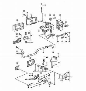 Door Handle Parts  U0026 Door Lock Parts Diagram Door Handle