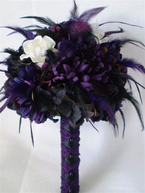 Love This Bouquet Gothic Wedding Pinterest Feathers