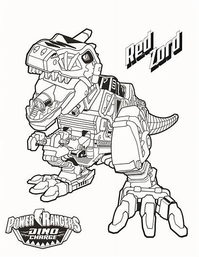 Rangers Coloring Power Pages Megazord Zord Printable