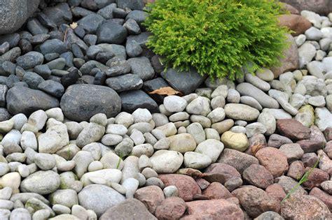 pebbles enhance the landscape design decor