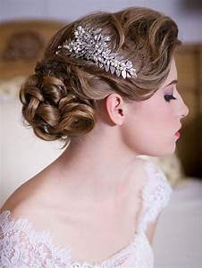Silver Leaf Headpiece With Crystals And Pearls 2048059