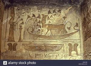 Frescoes inside the Temple of Queen Nefertiti at Abu ...