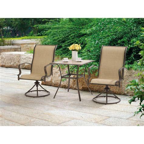Swivel & rocker chair parts. Outdoor 3 Piece Bistro Set Swivel Rocker Chairs Table ...