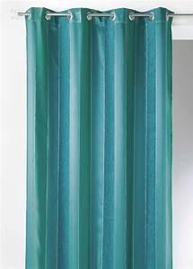 Rideau Voilage Bleu Canard : rideau en jacquard rayures chenille verticales bleu canard homemaison vente en ligne ~ Teatrodelosmanantiales.com Idées de Décoration
