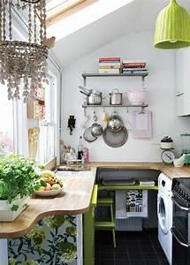 Kleine Küchen Einrichten : 1001 wohnideen k che f r kleine r ume wie gestaltet man kleine k chen ~ Indierocktalk.com Haus und Dekorationen