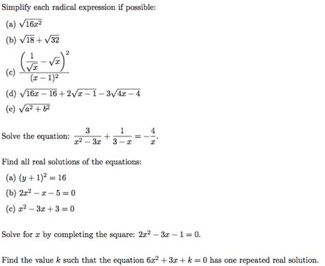 Solved Simplify Each Radical Expression If Possible 16x2 Cheggcom