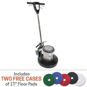 task pro 17 inch 1 5 hp floor buffer with 2 free cases