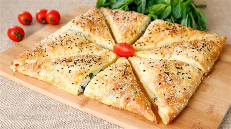 This simple tart recipe has a sweet and salty filling of caramelized vidalia onions and feta cheese. Envelope Phyllo Pastry Recipe (Turkish Börek) | Arabic Food Recipes