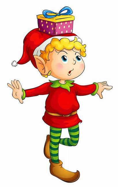 Christmas Elf Clipart Elves Gift Clipground