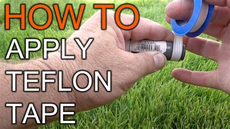 how to apply teflon tape youtube