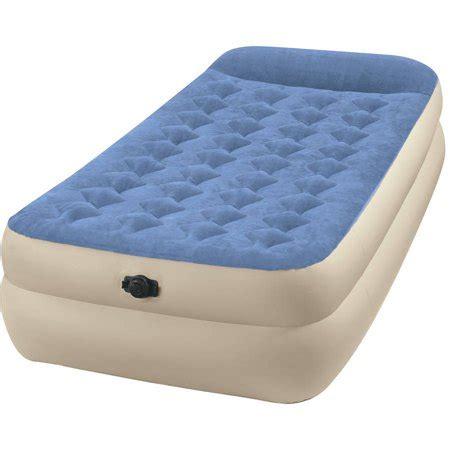 intex air mattress walmart intex 18 quot raised pillow rest airbed mattress with