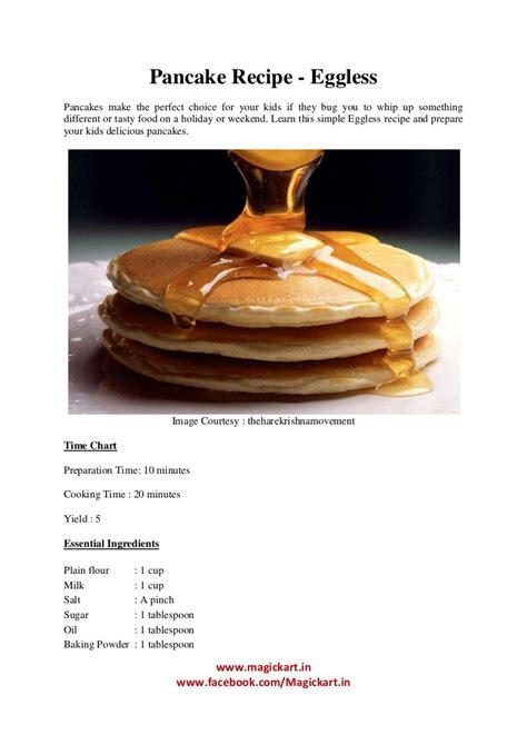 eggless pancake recipe  kids