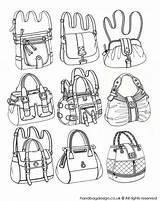Drawing Bag Purse Hand Sketch Handbag Illustration Technical Sketches Coroflot Drawings Rendering Flat Ziyaret Et Clothes sketch template