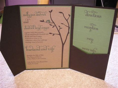 Diy Pocketfold Invitations