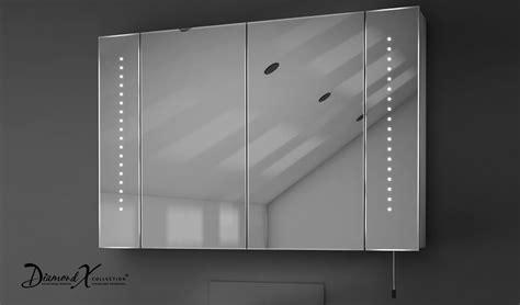 hatha led illuminated battery bathroom mirror cabinet