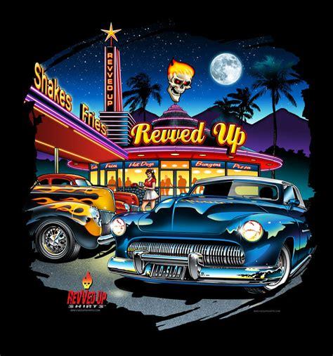 Revvedupshirts Diner Poster