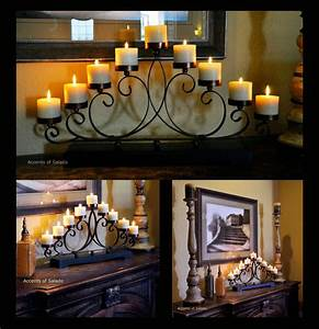 tuscan decor centerpiece candelabra With kitchen cabinets lowes with wrought iron candle holder centerpiece