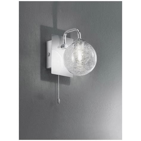 fl2313 1 switched 1 light chrome and glass bathroom wall