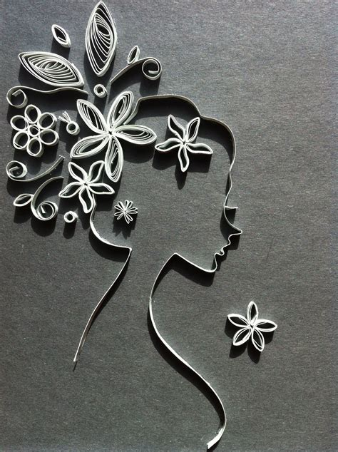 quilling ladys profile  images paper quilling